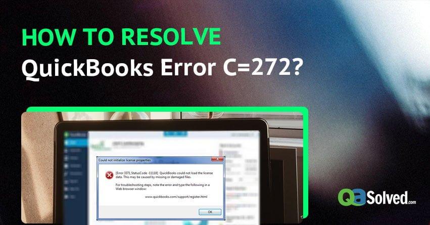 QuickBooks Error C=272