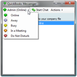 QuickBooks chat
