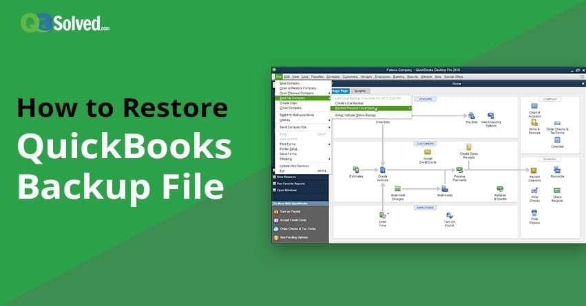 How to Restore QuickBooks Backup File? - QASolved