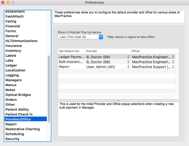 Initial Preferences Configuration