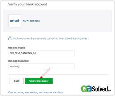 verify your bank account
