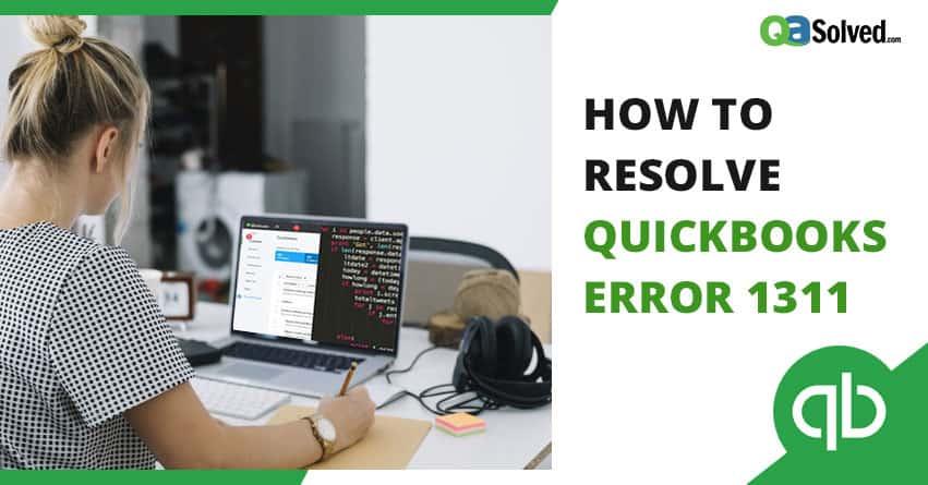 quickbooks error 1311