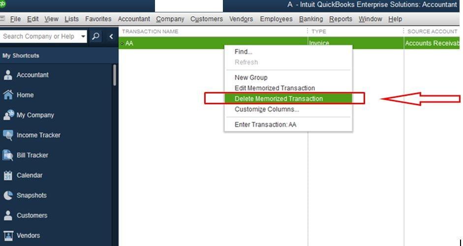 Edit or Delete Memorized Transactions in QuickBooks
