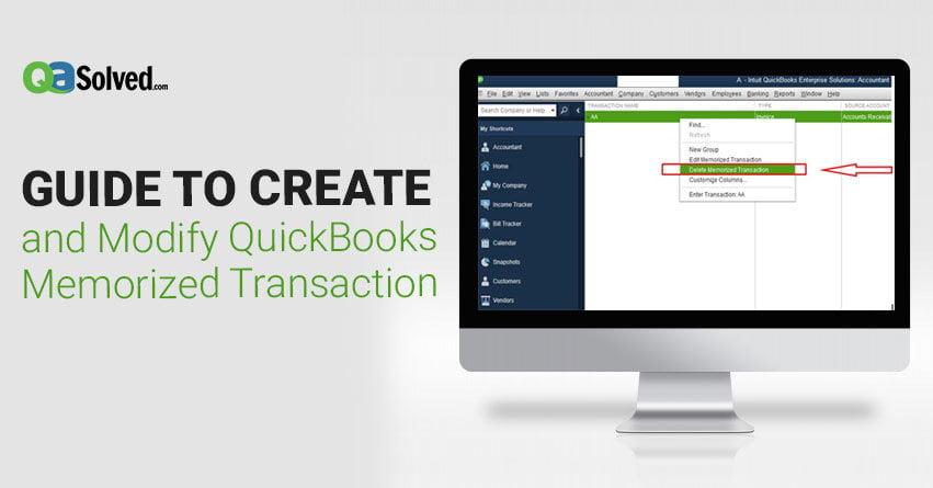 quickbooks memorized transactions