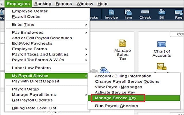 How to Enter or Edit QuickBooks Payroll Service Key? - QASolved