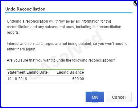 How to Undo Reconciliation in QuickBooks Online