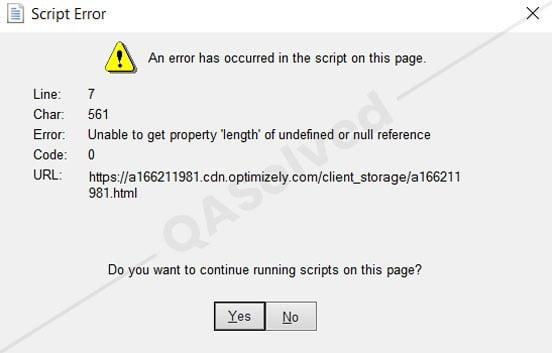 script error quickbooks