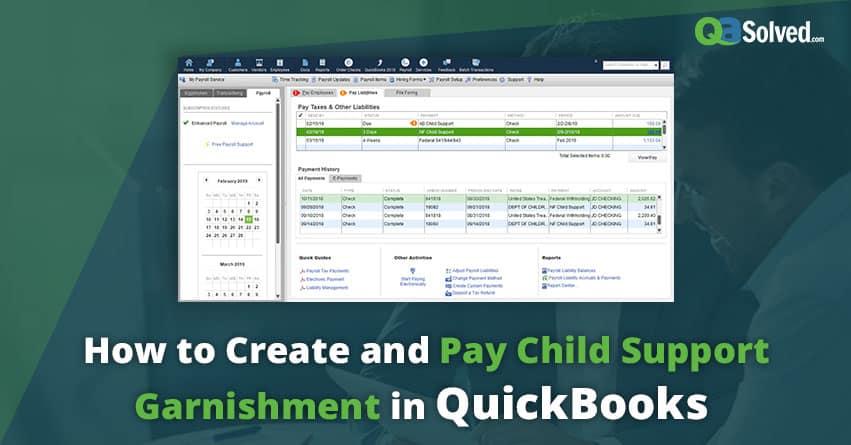 QuickBooks child support