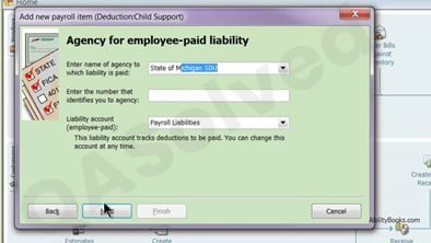 Payroll Item in QuickBooks Child Support