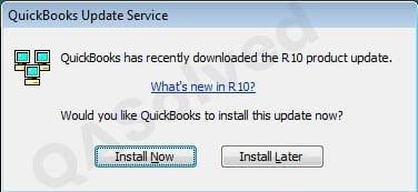 quickbooks update service