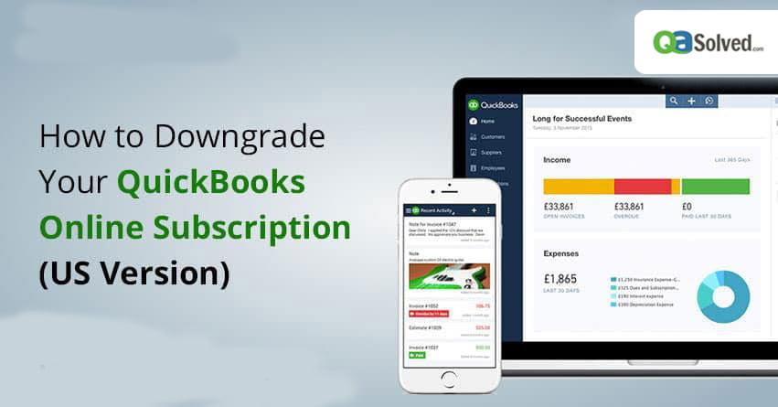 downgrade quickbooks online subscription