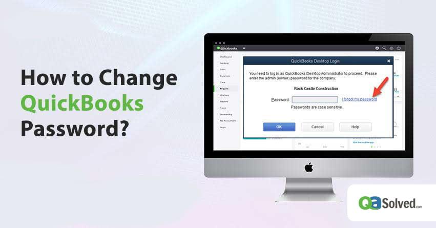 change quickbooks password