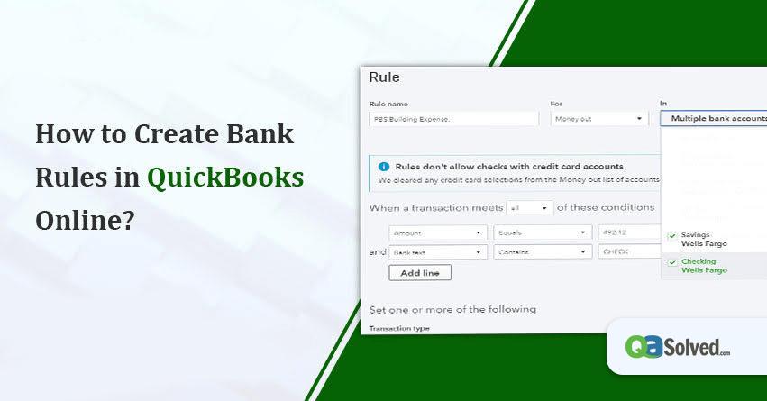 quickbooks rules