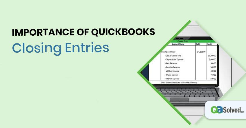 quickbooks closing entry