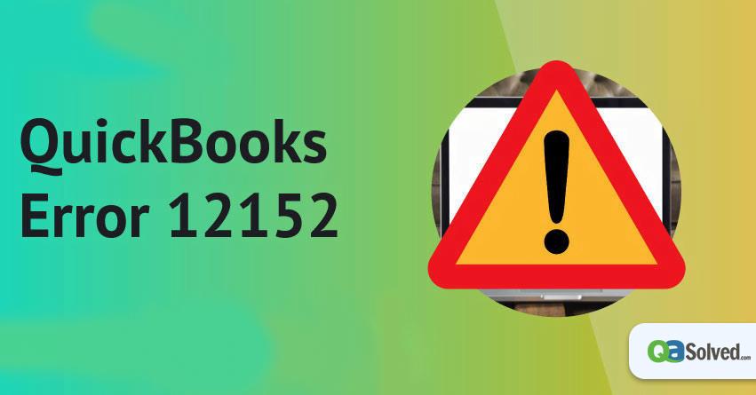 quickbooks error 12152
