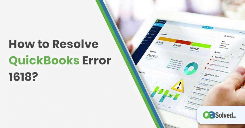 quickbooks error 1618