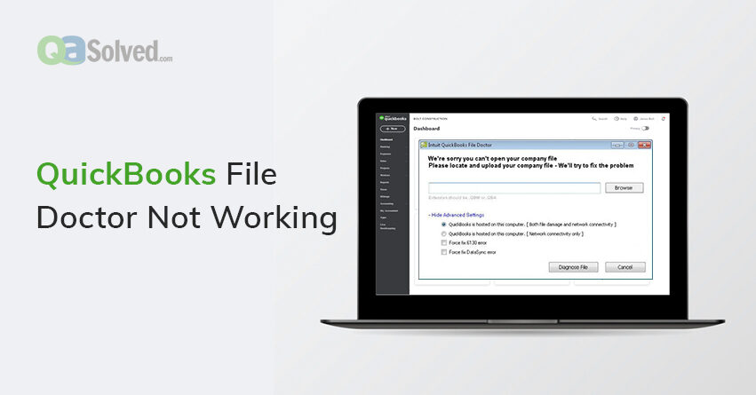 quickbooks file doctor not working
