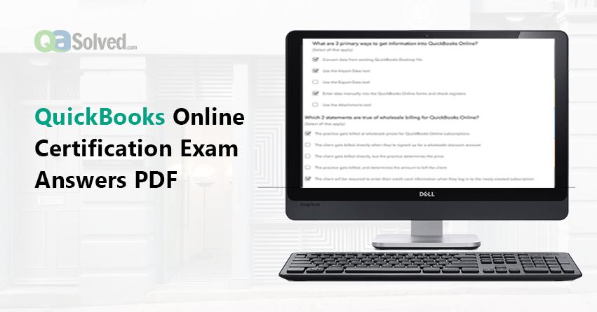 quickbooks online certification exam answers pdf