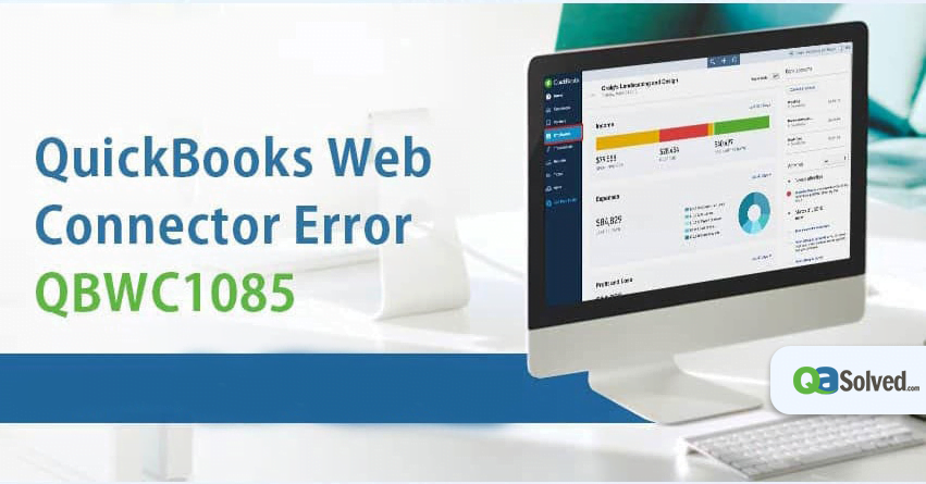 quickbooks web connector error 1085