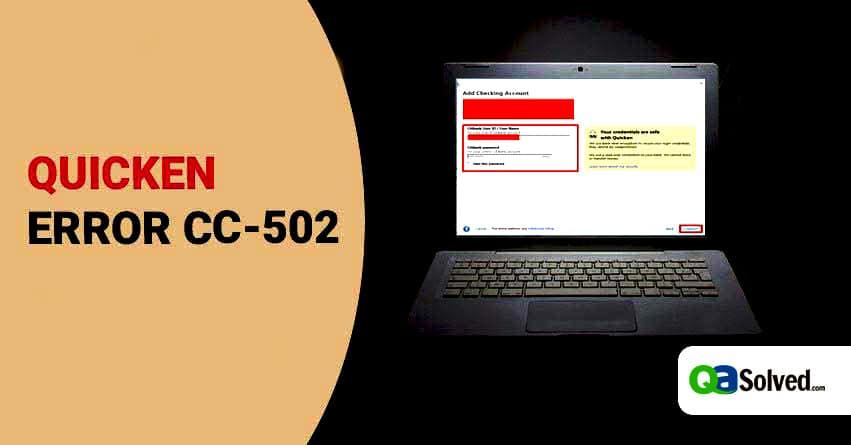 quicken error cc-502