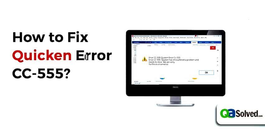 quicken error cc-555