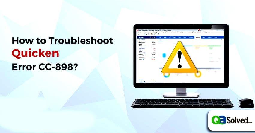 quicken error cc-898