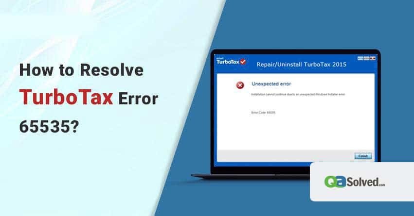 turbotax error 65535