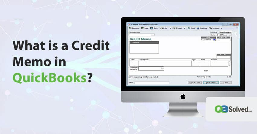 what is a credit memo in quickbooks