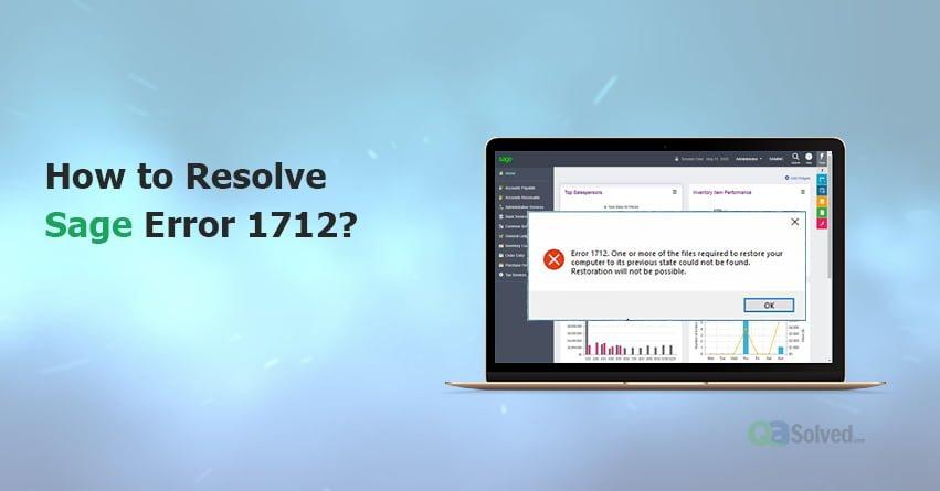 error 1712 sage