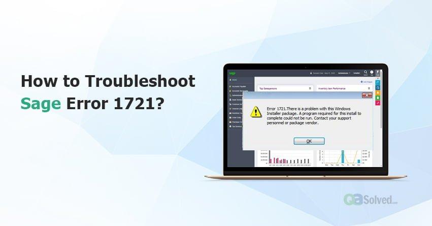 error 1721 sage
